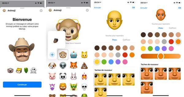 Créer un Memoji sur iOS 12