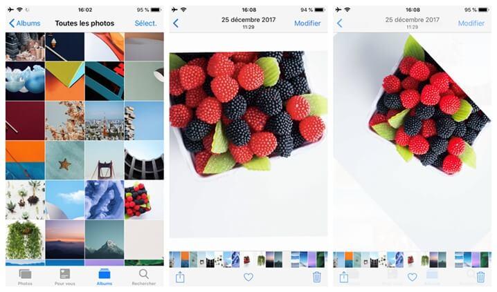 Faire tourner une image de votre iPhone