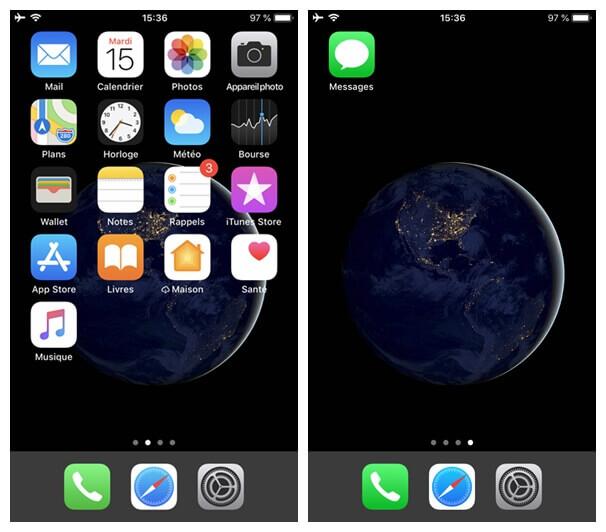 interface de votre iPhone