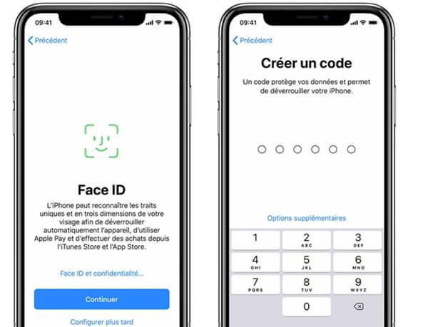 Configurer le Face ID ou le Touch ID et créer un mot de passe sur iPhone sous iOS 13