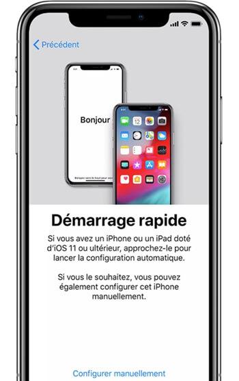 Démarrage rapide iphone sous ios 12