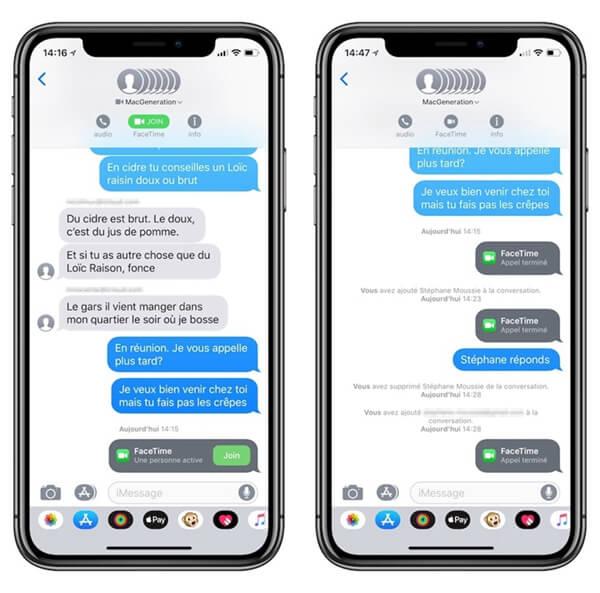 lancer Groupe FaceTime via iMessage