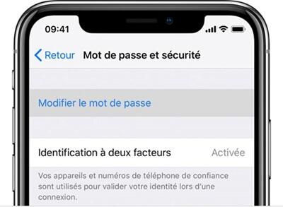 Modifier votre mot de passe sur l'iPhone
