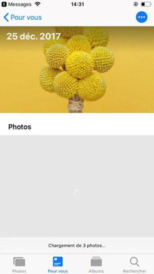 Partager les photos par le lien iCloud