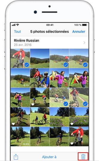 supprimer plusieurs photos en même temps sur un iPhone