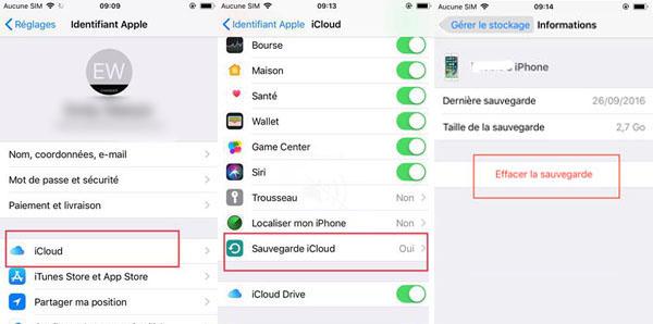 Supprimer les anciens fichiers de sauvegarde sur l'iPhone