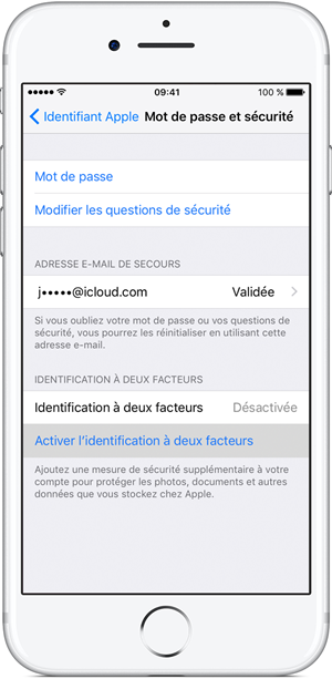 ios10 iphone7 settings icloud apple id set up two factor ontap