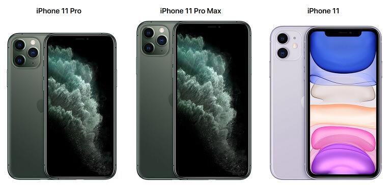 iPhone 11, iPhone 11 Pro et iPhone 11 Pro Max