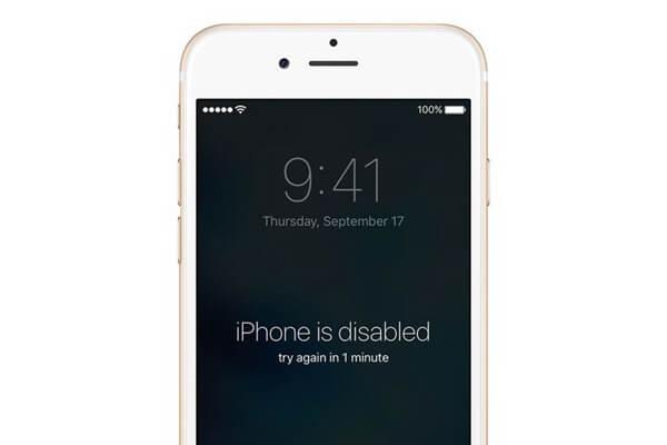 iPhone est désactivé