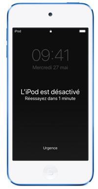 iPod Touch désactivé
