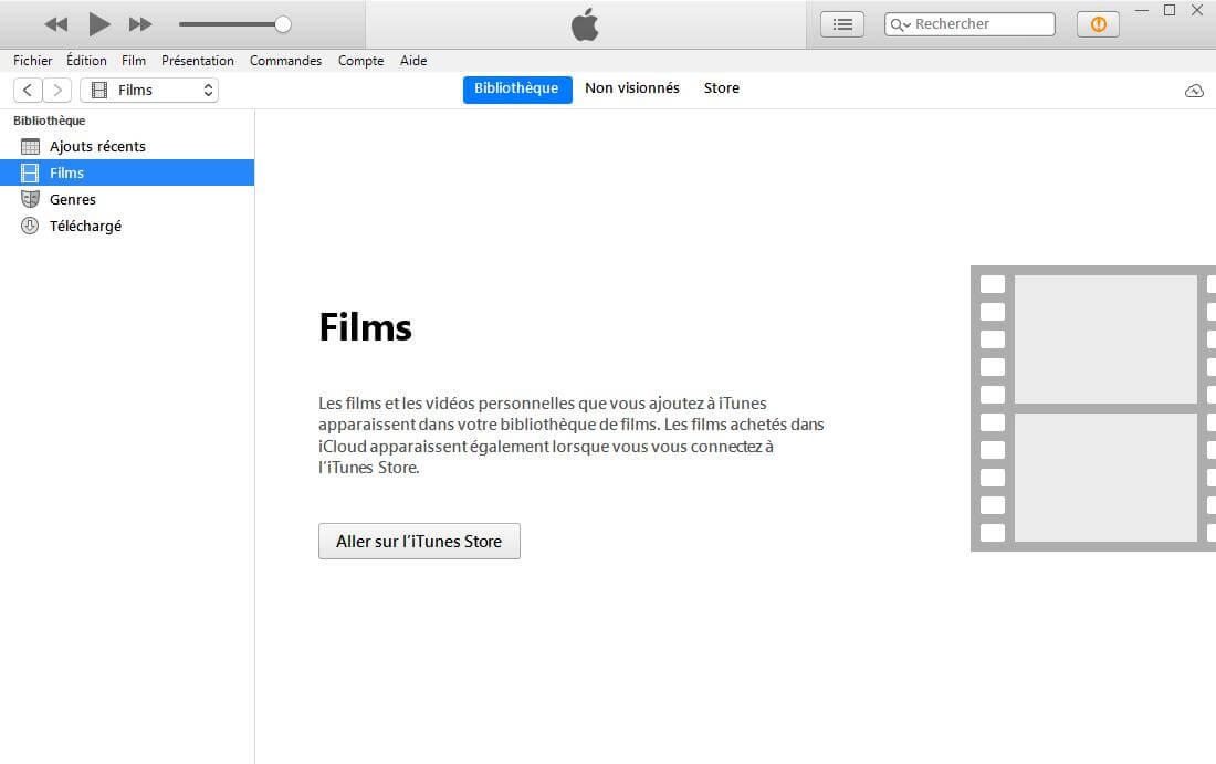 Supprimer les films à partir d'iTunes