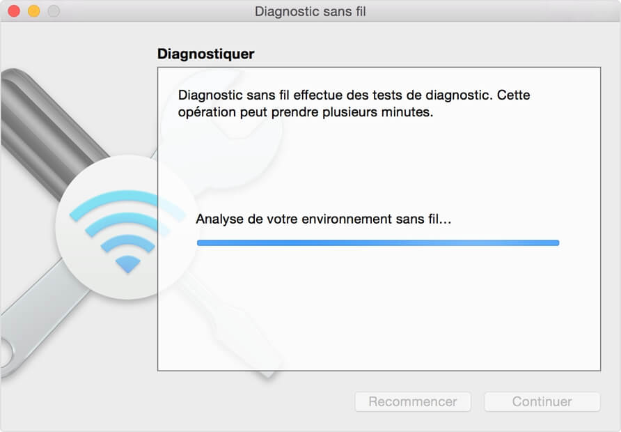 Configurer le diagnostic sans fil sur Mac