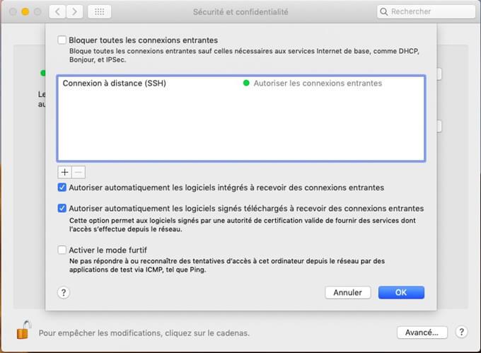 Activer le pare-feu logiciel intégré de votre Mac