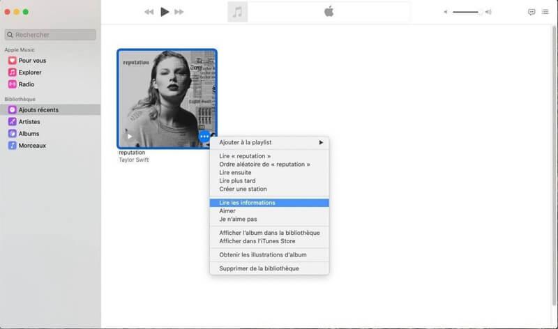 Lire les informations de MP3
