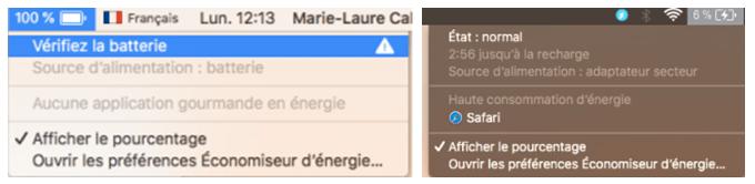 vérifier l'état de la batterie de votre MacBook