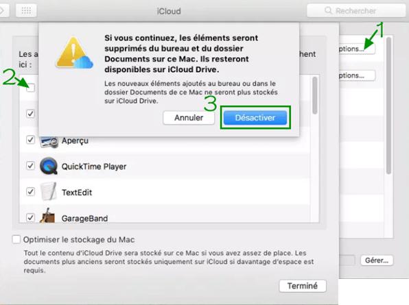 un message icloud sur Mac