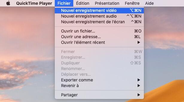 Partage d'écran entre un appareil iOS et un Mac