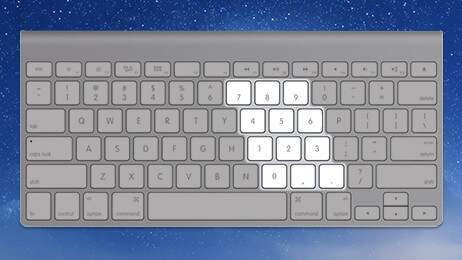 La touche de verrouillage du pavé numérique sur Mac
