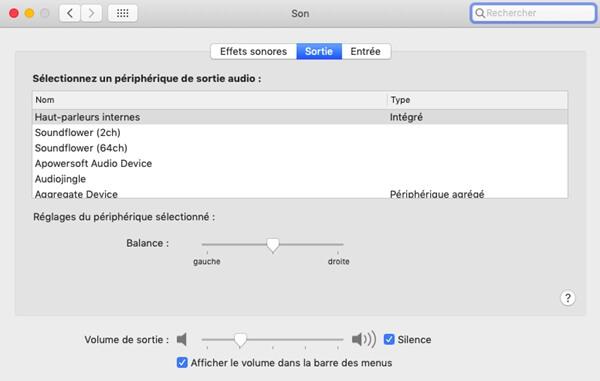 Vérifier les paramètres audio sur Mac