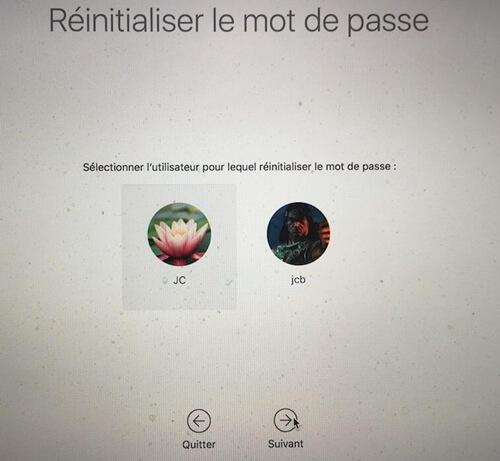 Utiliser l'identifiant Apple pour réinitialiser le mot de passe de Macbook