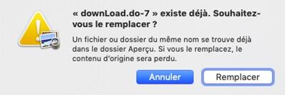 Remplacer un fichier PDF sur Mac