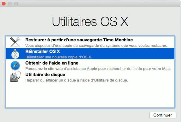 Réinstaller OS X