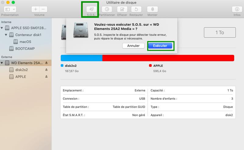 S.O.S. sur Mac