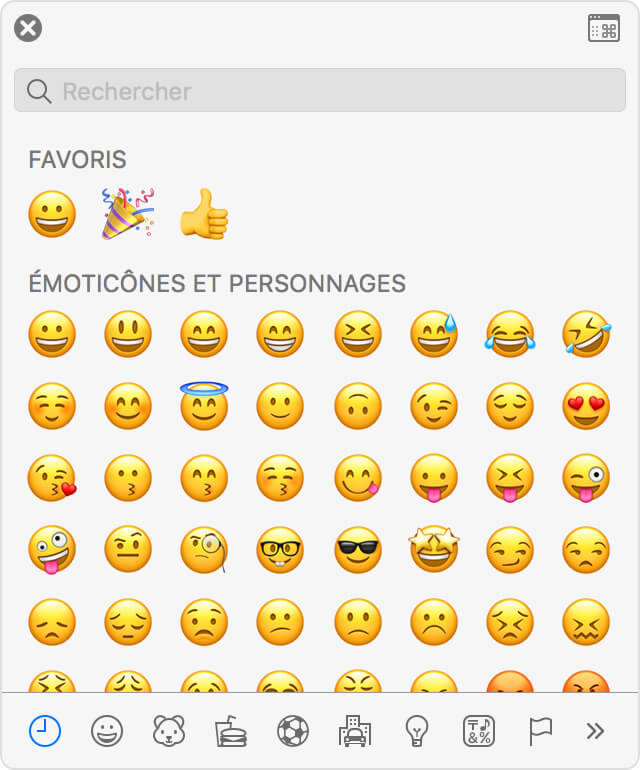 utiliser Emoji sur Mac