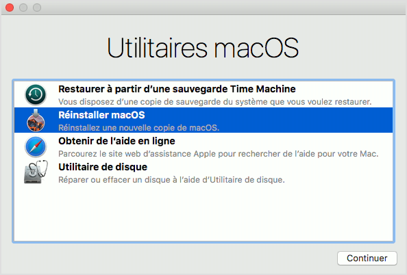 Mac Mode de récupération