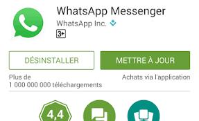 Mettez à jour ou réinstallez l'application WhatsApp