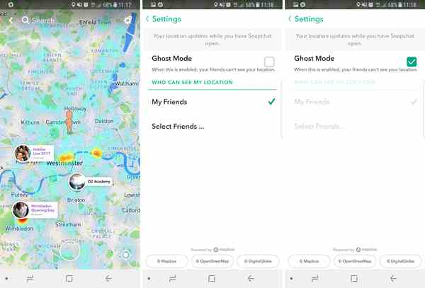 Activer Snap Map's Guest Mode sur Android et iPhone
