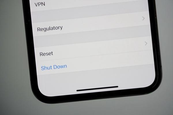Paramètres d'écran pour éteindre iPhone X
