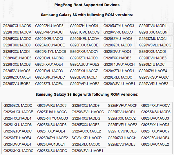 Connect Samsung to PingPong Root