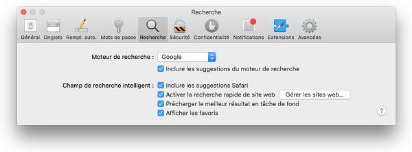 rechercher mac
