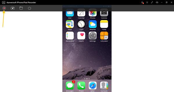 enregistrer ecran iphone sur pc