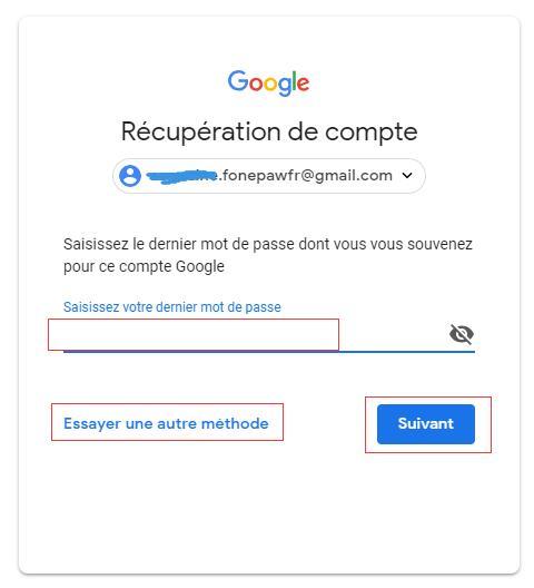Récupérez un mot de passe oublié de Gmail