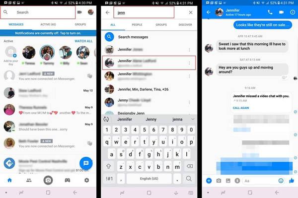 Récupérer les messages Messenger supprimés
