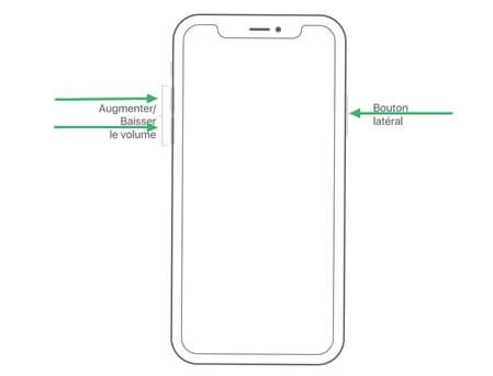 redémarrer l'iPhone 8 ou modèle ultérieur