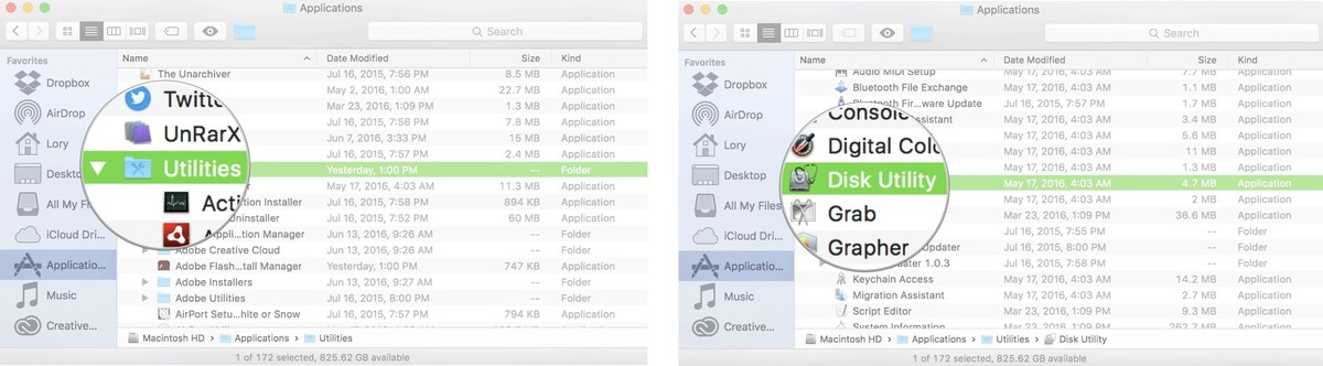 partition de disque de mac