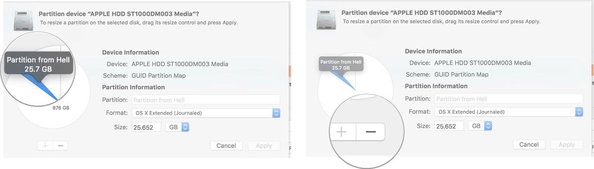 partition de mac