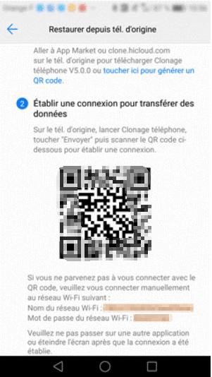 utiliser Phone Clone pour transférer les données