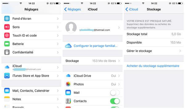 supprimer anciennes sauvegardes icloud iphone