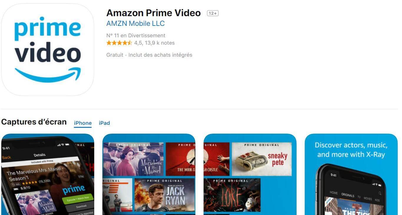 Réinstaller l'application Prime Video