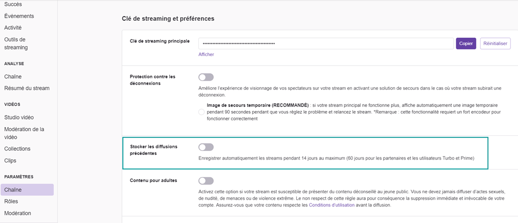 Télécharger votre propre diffusion de Twitch