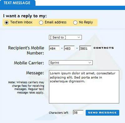 Envoyer des messages gratuits