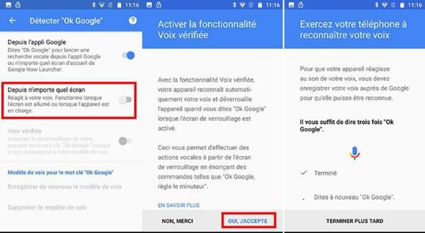 Utilisation de la reconnaissance vocale avec OK Google pour déverrouiller votre Samsung