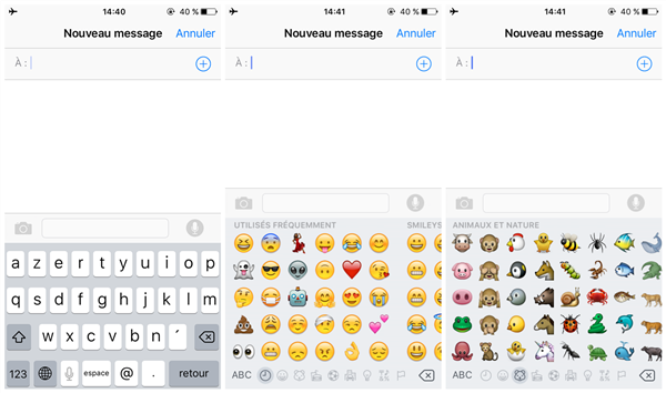 utiliser clavier emoji iphone