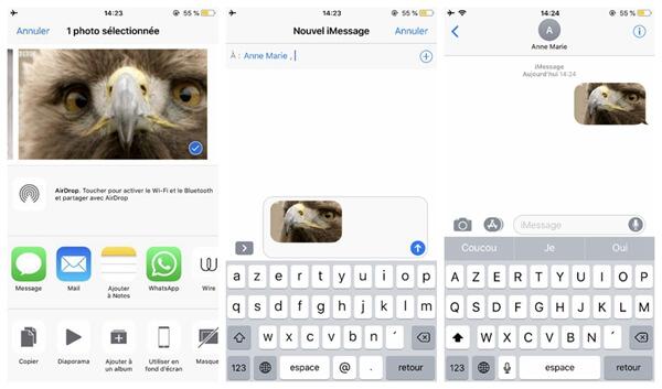 visionner et envoyer des GIF sur iOS 11