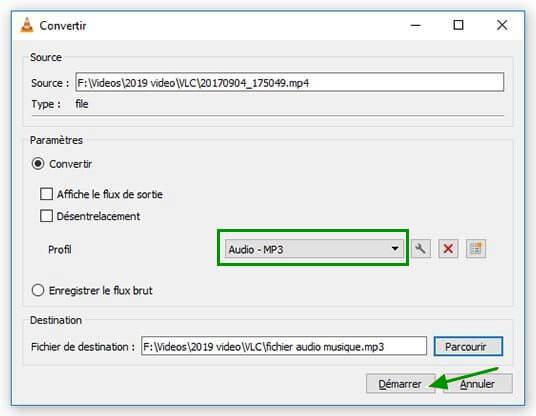 Comment convertir une vidéo en audio (MP3) avec VLC