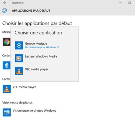 Configurer VLC comme lecteur vidéo apr défaut sur Windows